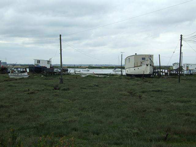 House boats at West Mersea