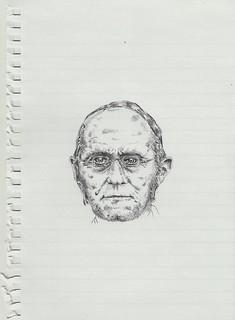 Zavier Ellis 'Mad Preacher Drawing # 3', 2014 Pencil on paper 21x14.8cm