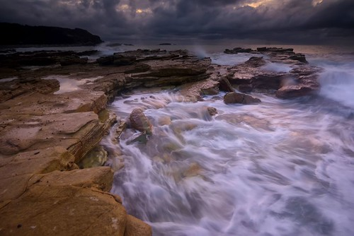 longexposure seascape australia newsouthwales aus cavesbeach theblacksmith nikon1635mmf4 chalkybeach nikond750