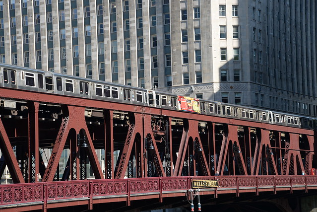 Wells Street Bridge - The L - Merchandise Mart - Chicago IL