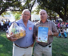 2009 0126 Australia Day Community Event of the Year Gawler Swap-meet Awardees Trevor Bellchambers and Mark Chapman  (2)