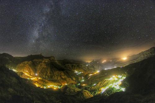 """La Vía Láctea """"Rio de Estrellas"""" en la Caldera de Tejeda Gran Canaria.   by El Coleccionista de Instantes"""