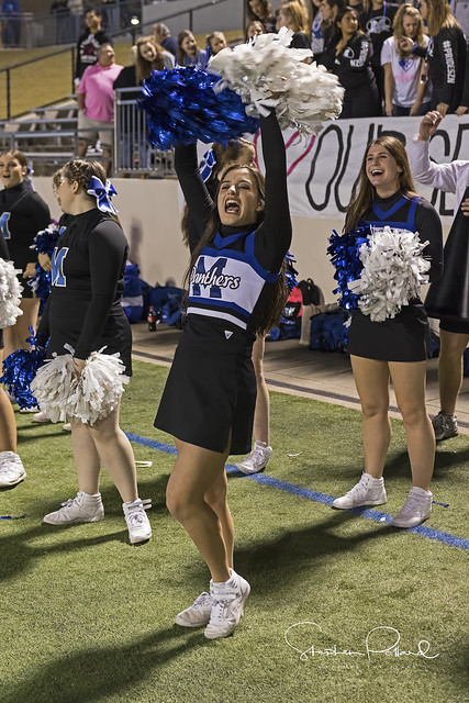 Gabi Cheering at Seniors Game