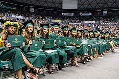 "College of Tropical Agriculture and Human Resources graduates at UH Manoa's fall commencement ceremony on  December 16.  For more photos go to the CTAHR's Flickr site at: <a href=""https://www.flickr.com/photos/ctahr/sets/72157661767887417"">www.flickr.com/photos/ctahr/sets/72157661767887417</a>"