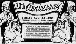 DC cafeteria union's 20th anniversary: 1958 | by Washington Area Spark