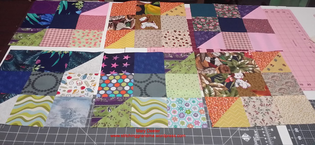 Six blocks for the Thomas Fire relief quilts