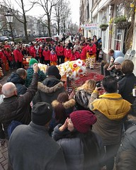 A little lunchtime taste of Chinese New Year on Nieuwmarkt