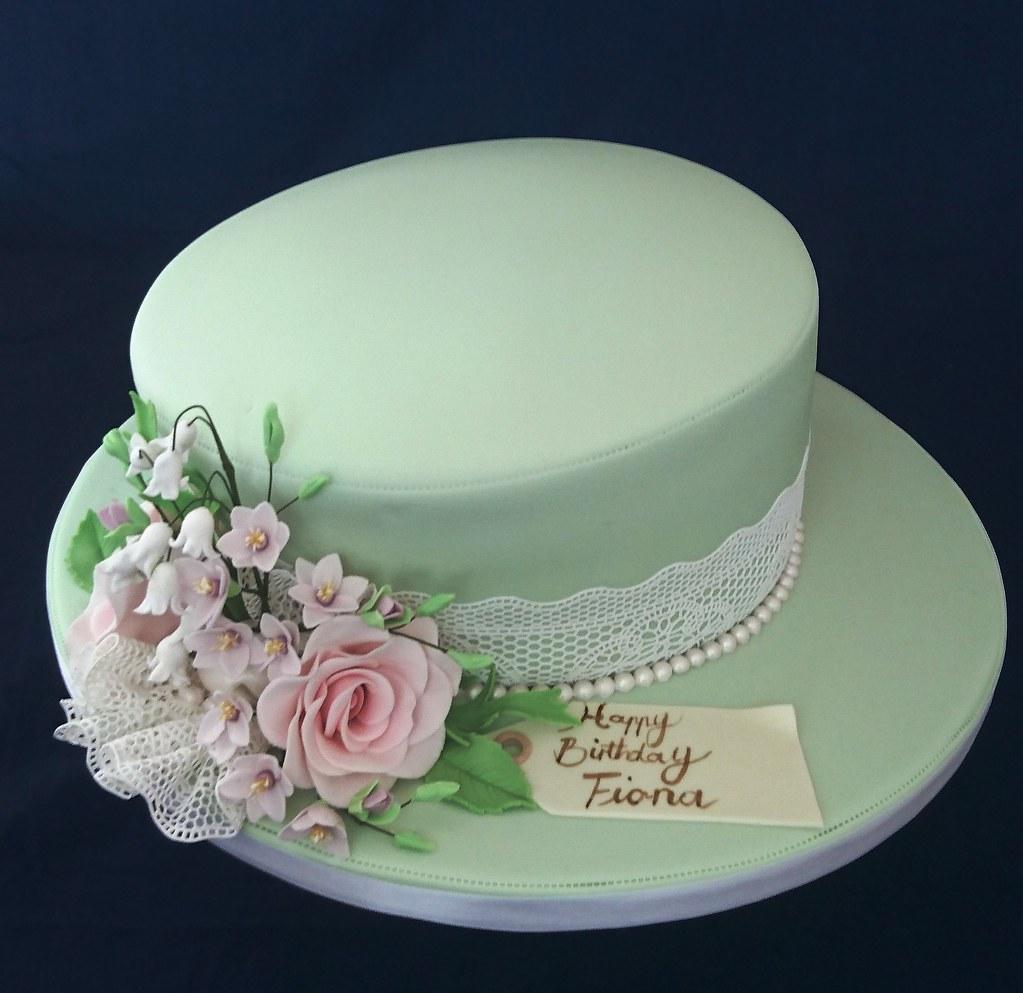 Awe Inspiring Hat Styled 80Th Birthday Cake Geraldine Horton Flickr Personalised Birthday Cards Sponlily Jamesorg