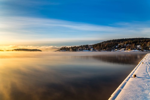 son winter trees tree day sky snow sea sun shore canon clouds cloud coast sigma sigma2470 vividstriking blusky nationalgeographic ngc norway norge nature landscape lake photo picture outdoor ice frost einarschioth
