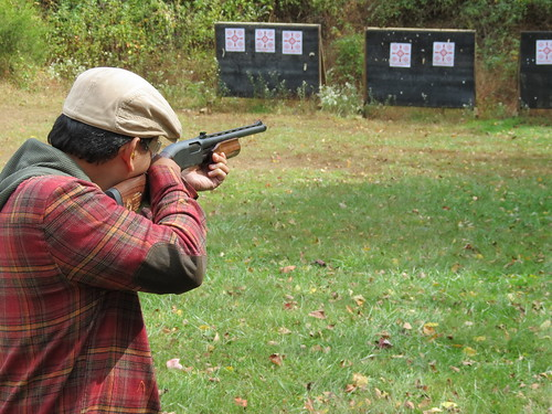 Photo of hunter on a practice shooting range