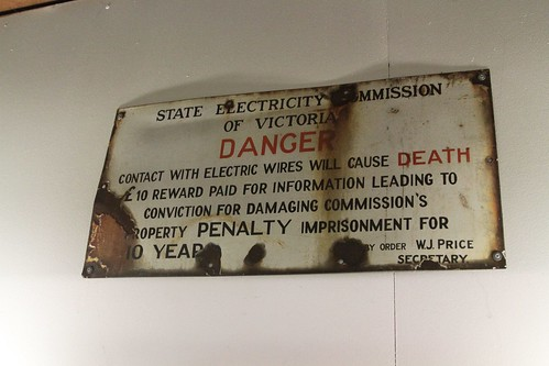 State Electricity Commission of Victoria warning sign