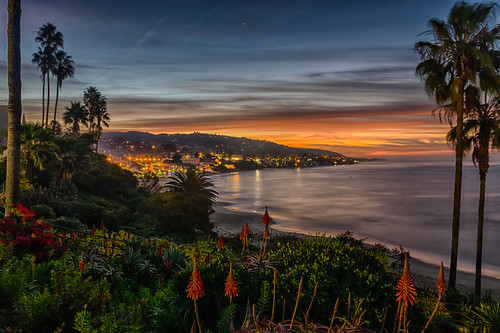 california hdr heislerpark lagunabeach mainbeach nikon nikond5300 outdoor pacificocean beach clouds coast geotagged lights longexposure morning ocean palmtree palmtrees park reflection reflections sand sea seascape shore sky sunrise water unitedstates