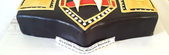 WWE Baby Shower Cake