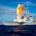 During exercise Stellar Avenger, the Aegis-class destroyer USS Hopper (DDG 70) launches a standard missile (SM) 3 Blk IA, successfully intercepting a sub-scale short range ballistic missile, launched from the Kauai Test Facility, Pacific Missile Range Facility (PMRF), Barking Sans, Kauai.  (U.S. Navy photo)