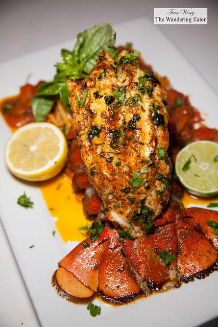 Lobster Poseidon Aglio E Olio - 12-ounce Maine Lobster Tail, Roasted Garlic, Olive Oil, Linguini