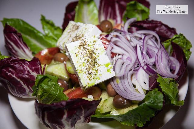 Large platter of Greek salad