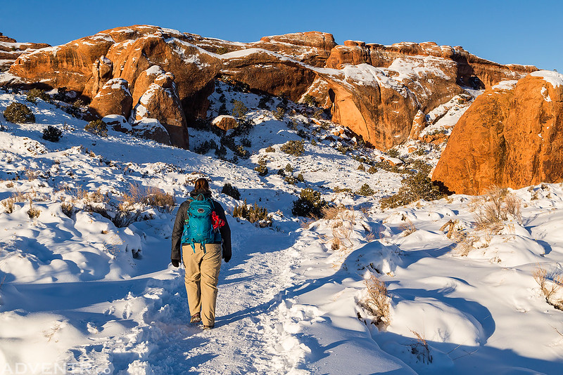 Devil's Garden Winter Hiking