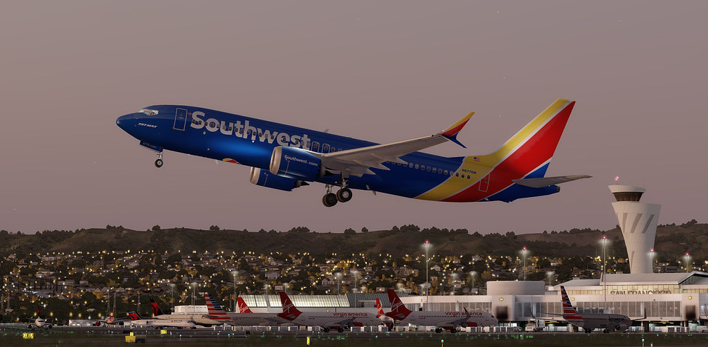 Southwest 737 Max 8 leaving SFO | Early morning departure to… | Flickr