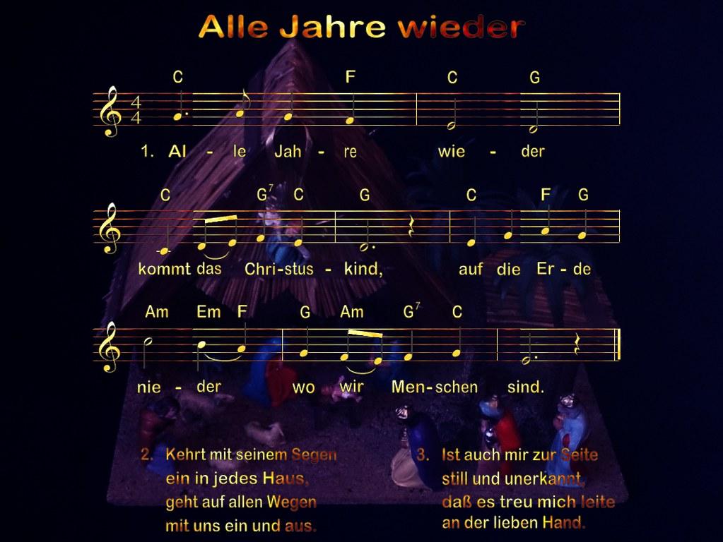 Liedtext Weihnachtslieder.Weihnachten Zeit Der Freude Eines Der Bekanntesten Deut