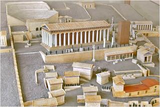 Maquette du sanctuaire d'Apollon (Delphes, Grèce)