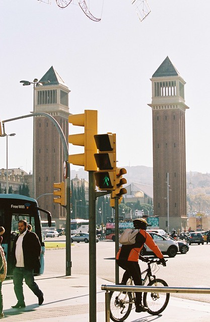 Traffic. Plaça d'Espanya, Barcelona, November 17