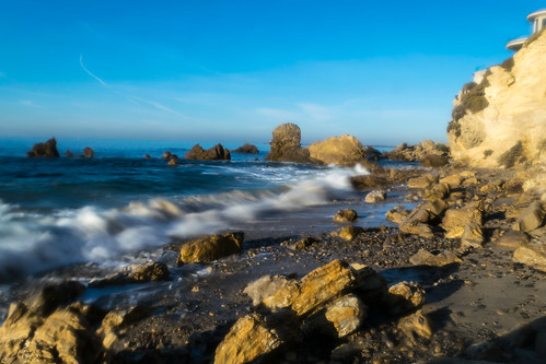 california coronadelmar newportbeach nikon nikond5300 pacificocean beach cliff geotagged longexposure ocean rock rocks sand sea seascape shadow shadows shore sky water wave unitedstates