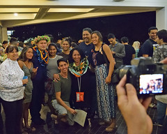 """Engineering graduates celebrate with family and friends during the college's convocation ceremony on December 15.   For more photos go to the college's Flickr site at:  <a href=""""https://www.flickr.com/photos/eaauh/albums/72157689598757311"""">www.flickr.com/photos/eaauh/albums/72157689598757311</a>"""