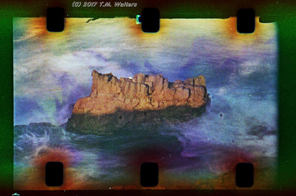 Sea stack (1960s Kodak Ektachrome ER Type 7257 16mm film