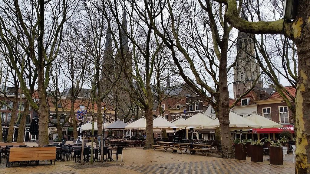 Beestenmarkt - Delft, op een winterse ochtend
