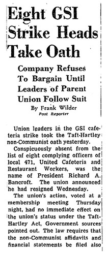 Leaders of striking union take non-communist oath: 1948 | by Washington Area Spark