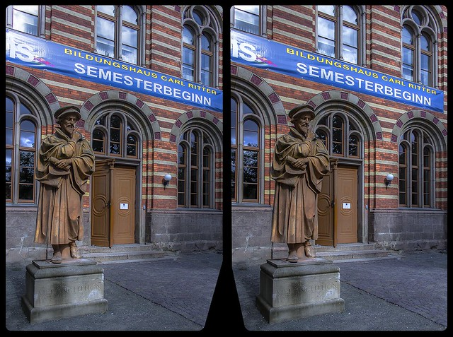 Educational facility »Carl Ritter« 3-D / CrossView / Stereoscopy / HDR / Raw