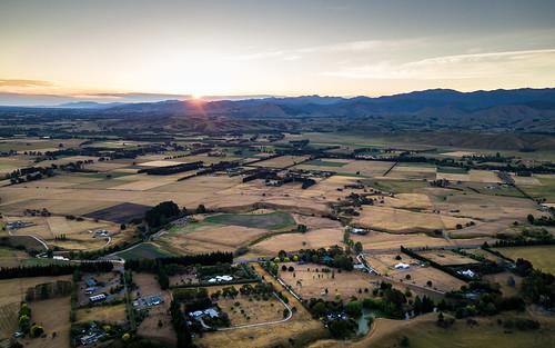 2017 country dji djimavicpro drone dronephotography landscape masterton newzealand northisland rural sunset wairarapa wellington opaki nz