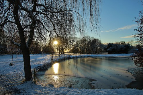 europe england cheshire outdoor nature beauty sunlight simplysuperb sunset trees pond ice reflections blueskies greatphotographers