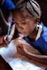 School girl studying Sierra Leone