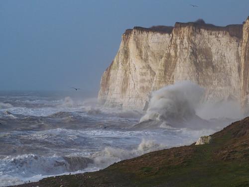 cliffs em10 gale mft microfourthirds newhaven omd olympus rough seascape southcoast storm sussex violent waves wind england unitedkingdom gb