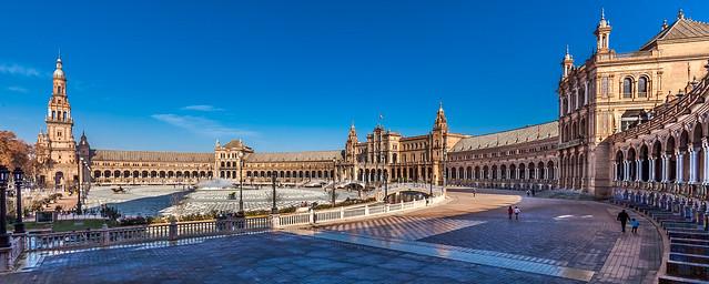 Plaza de España desde el sur. Sevilla. España