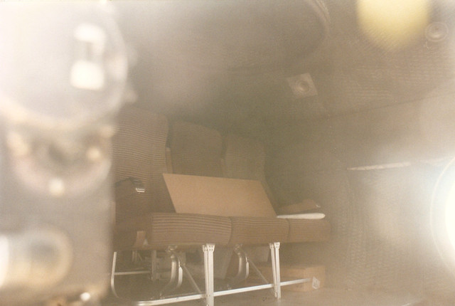 B-29A Aft Pressurized Compartment, looking aft, modern passenger seats!  Fifi CAF 95-14-24