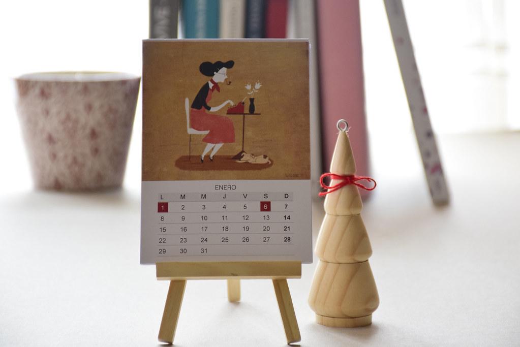 Mini Calendario.Mini Calendario Llego Mi Mini Calendario De Nuria Diaz Pa