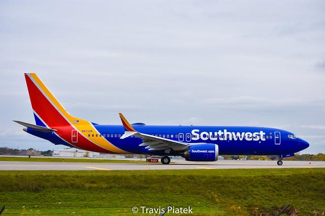 Southwest Airlines –  Boeing 737 MAX 8 N8710M @ Buffalo Niagara