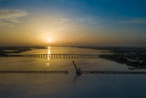bridge mavic mavicpro palmetto bradenton dji florida manateecounty manateeriver river riverwalk sky sunrise unitedstates us