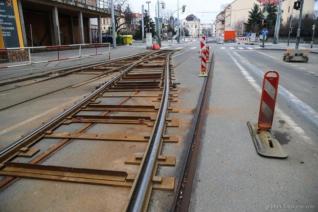 Ремонт путей в Праге без закрытия движения