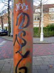 Rusty Graffity Pole