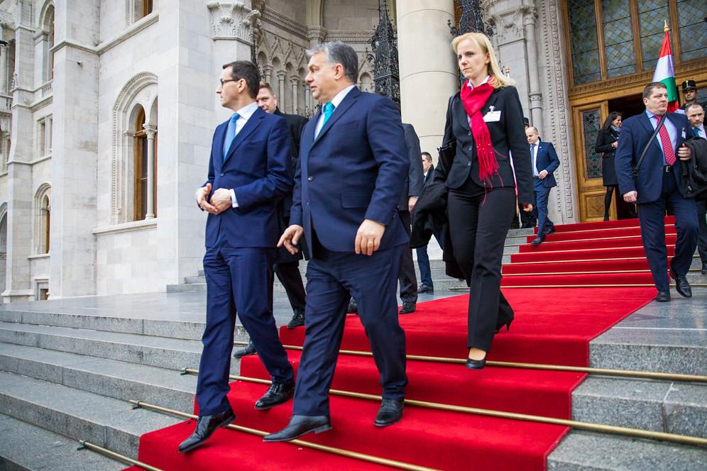 Официальный визит премьера Польши Матеуша Моравецкого в Венгрию