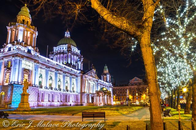 Belfast City Hall Lights