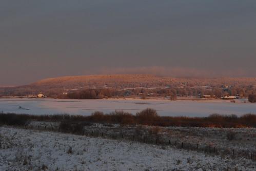winter vinter snow snö solnedgångsljus sunsetlight lake sjö woods skog trees träd afternoon eftermiddag eos7dmkii scandinavia skandinavien sweden sverige norden nordic hornborgasjön landscape landskap