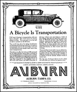 Advertising For The 1926 Auburn Automobile In The Tampa Fl
