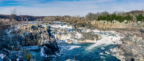 america blue cascades fairfaxcounty famousplace greatfalls green ice maryland montgomerycounty nps nationalpark nature northamerica panorama places potomac river rocks touristattraction traveldestination travelandtourism trees usa unitedstates virginia water winter snow waterfall ngc