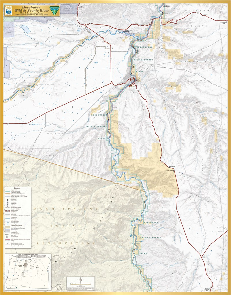 on deschutes river map
