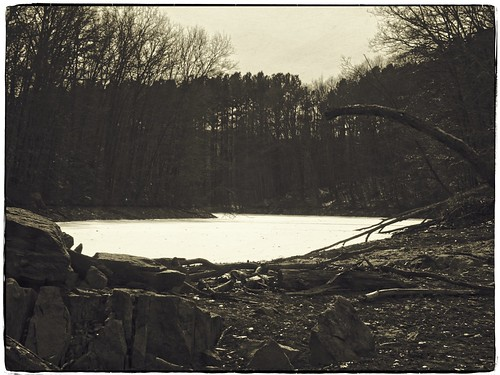 on1 libertyreservoir carrollcountyfitandfitness50 woods hike winter water ice