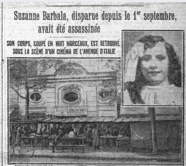 Meutre au cinéma. Le Petit Parisien du 29 septembre 1922
